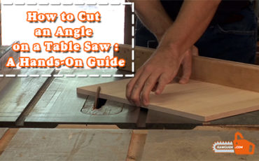 How to Cut an Angle on a Table Saw