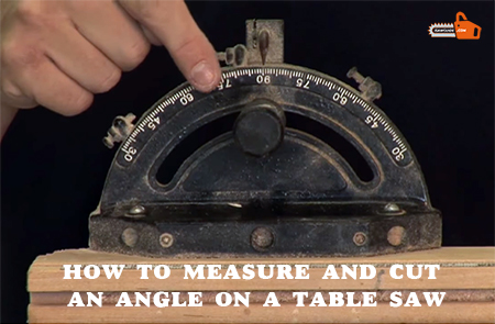 how to measure and cut an angle on a table saw