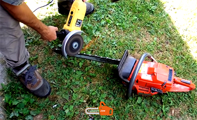 How to Sharpen a Chainsaw with a Grinder